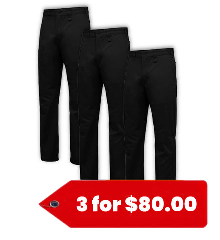 Hard Yakka Basic Stretch Drill Pant (Y02596-1)-3 Pack