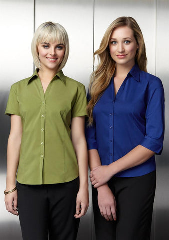 Biz Collection Ladies Metro Shirt 3/4 Sleeve (LB7300)