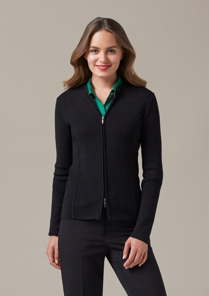 Biz Collection Ladies 2 Way Zipper Cardigan (LC3505)