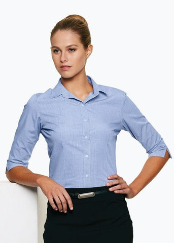 Aussie Pacific-Aussie Pacific Lady Toorak Shirt 3/4 Sleeve--Uniform Wholesalers
