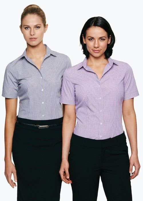 Aussie Pacific-Aussie Pacific Lady Toorak Short Sleeve Shirt--Uniform Wholesalers - 1