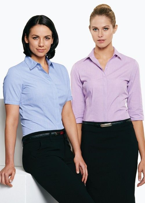 Aussie Pacific-Aussie Pacific Lady Grange 3/4 Sleeve Shirt--Uniform Wholesalers - 1