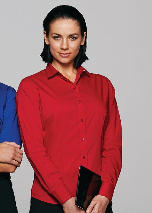 Aussie Pacific-Aussie Pacific Lady Mosman Long Sleeve Shirt--Uniform Wholesalers