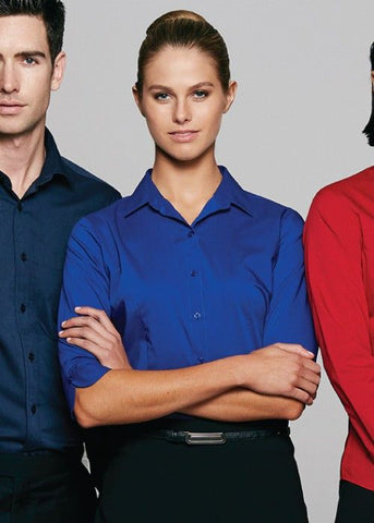 Aussie Pacific-Aussie Pacific Lady Mosman 3/4 Sleeve Shirt--Uniform Wholesalers