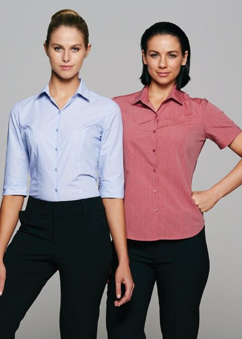 Aussie Pacific-Aussie Pacific Lady Belair 3/4 Sleeve Shirt--Uniform Wholesalers - 1
