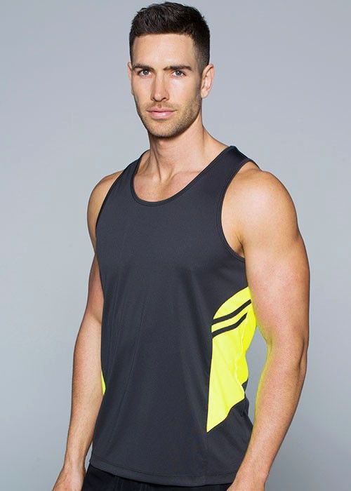 Aussie Pacific-Aussie Pacific Mens Tasman Singlet(2nd 4 color)--Uniform Wholesalers - 1