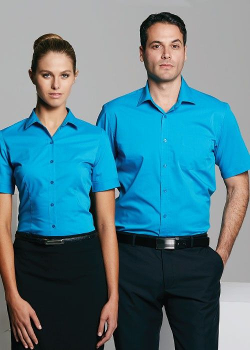 Aussie Pacific-Aussie Pacific Lady Mosman Short Sleeve Shirt--Uniform Wholesalers