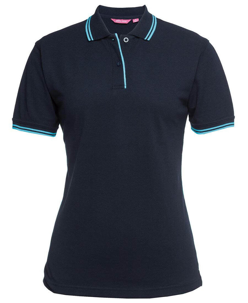 Jb's Ladies Contrast Polo 1st ( 11 Color ) (2LCP)