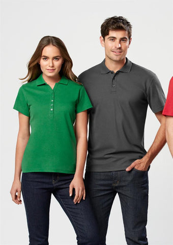 Biz Collection Ladies Crew Polo(1st 10 Colours) (P400LS)