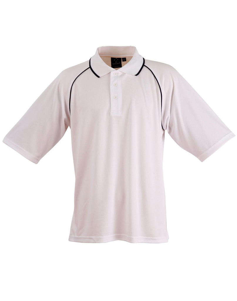 Winning Spirit Men's CoolDry® Raglan Short Sleeve Contrast Polo 2nd(5 Colour) (PS20)