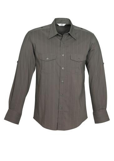 Biz Collection Mens Brooklyn Long Sleeve Shirt (S29610)