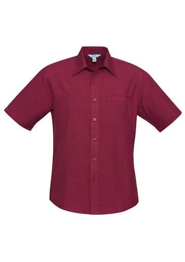 Biz Collection Mens Plain Oasis Short Sleeve Shirt (SH3603)