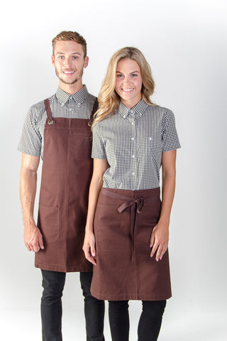 Identitee-Jimmy Canvas Waist Apron-Chocolate
