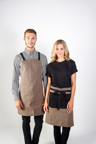 Identitee-Jimmy Canvas Waist Apron-Sage green/Black