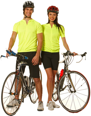 Winning Spirit Unisex Cycling Top CoolDry Mesh Contrast Piping Polo (TS89)