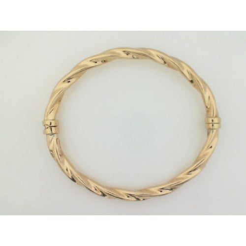 10K Yellow Gold Hollow Twisted Bracelet 4.19 Grams