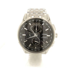 Citizen World Chronograph AT Eco-Drive Stainless Steel Black Dial