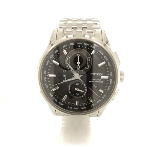 Citizen World Chronograph Stainless Steel Black Dial