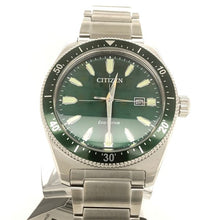Citizen Brycen Eco-Drive Stainless Steel Dial and Green Bezel