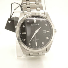 Citizen Corso Eco-Drive Stainless Steel Black Dial with Diamonds