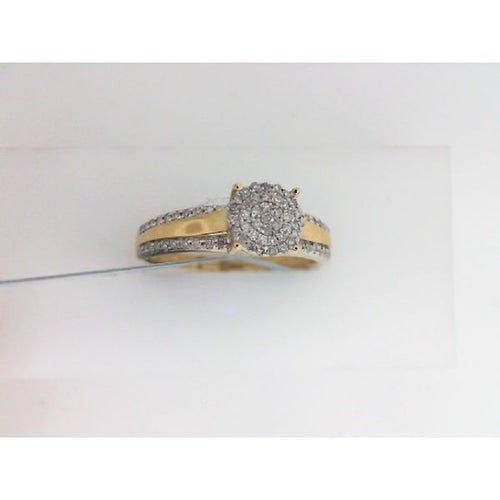 0.20CTW 10K Yellow Gold Diamond Engagement Ring 2.17 Grams Size 7