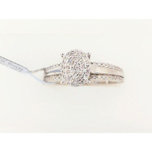 0.20CTW 10K White Gold Diamond Engagement Ring 2.17 Grams Size 7