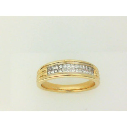 14K Yellow Gold Man Diamond Engagement Ring 7.30 Grams Size 10.5