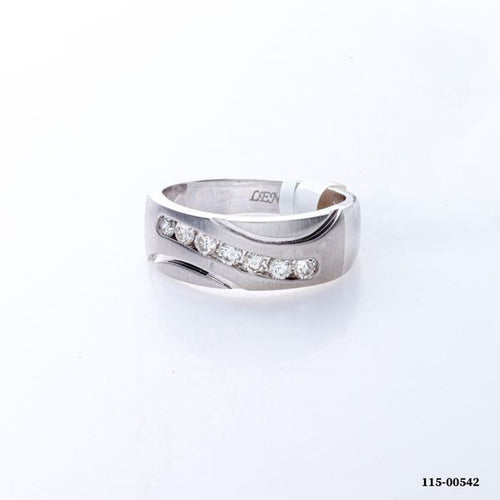 0.50CTW 14K White Gold Man Diamond Engagement Ring 7.30 Grams Size 10.25