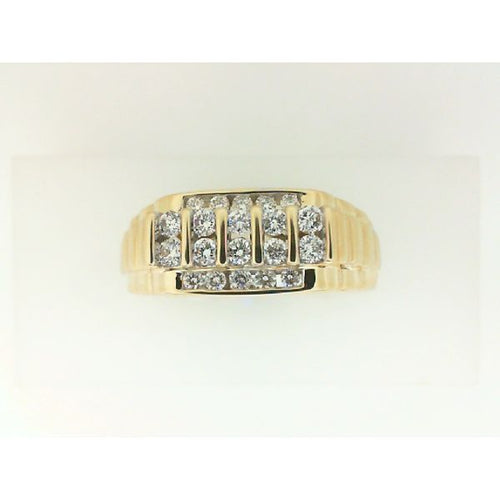 0.50CTW 14K Yellow Gold Man Diamond Engagement Ring 7.30 Grams Size 10.25