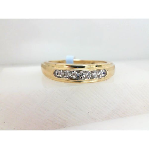 0.15CTW 10K Two Tone Man Diamond Engagement Ring 2.79 Grams Size 10