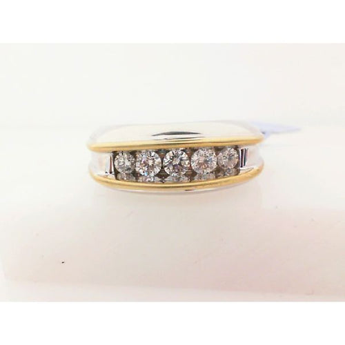 1.0CTW 10K Two Tone Man Diamond Engagement Ring 6.53 Grams Size 10