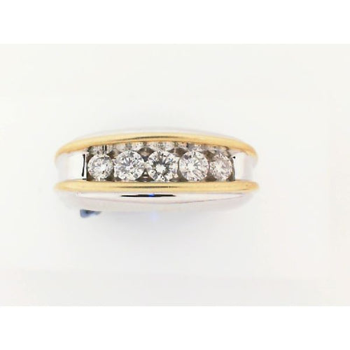 1.0CTW 10K Two Tone Man Diamond Engagement Ring 5.75 Grams Size 10