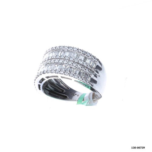 10K White Gold Diamond Ring 1.50CTW 5.59 Grams Size 7