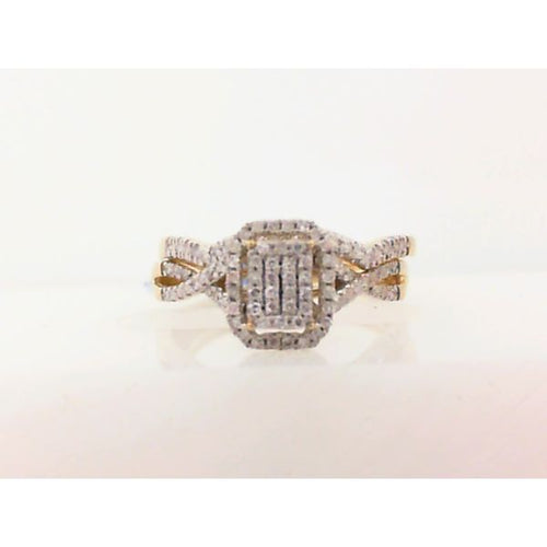 0.25CTW 10K Yellow Gold Diamond Engagement Ring 2.49 Grams Size 8