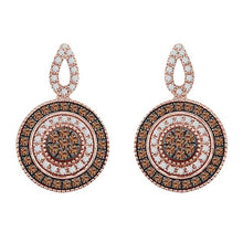14K Rose Gold Cappuccino Diamond Earring 7 / 4CTW