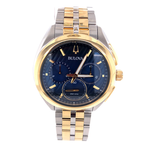 Bulova Two Tone Watch with small scratches