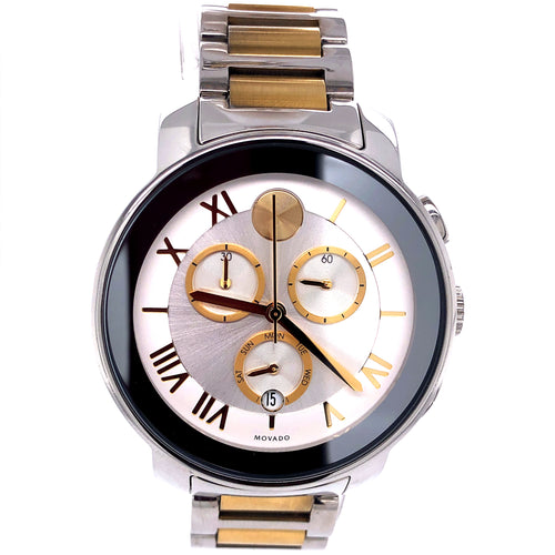 Movado Bold Two Tone Stainless Steel with Small Scratches