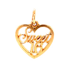 14Y Yellow Gold Heart Style Pendant
