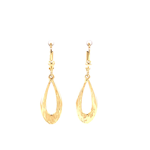 10K Yellow Gold Drop Earrings 3.1 Grams