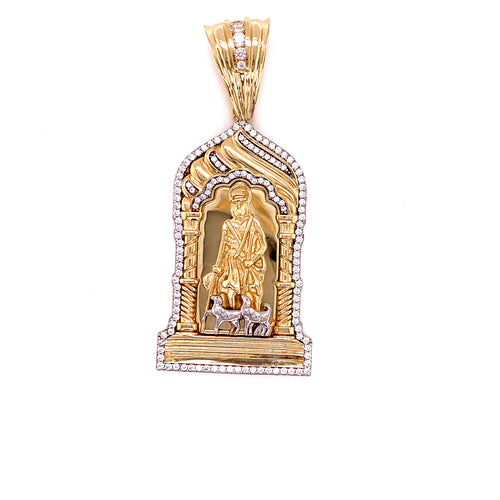 14K Yellow Gold Medal of Saint Lazarus 15.55 Grams
