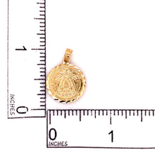 14K Yellow Gold Copper Charity Medal 2.02 Grams