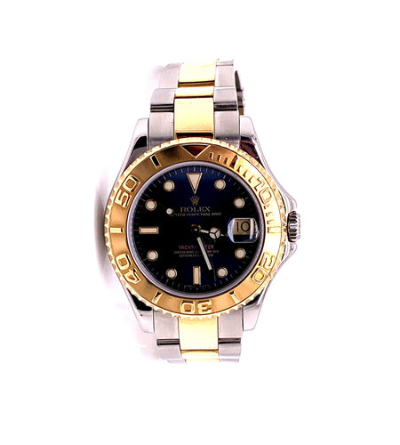 Rolex Yachtmaster 35MM Two Tone 18k Oyster Band with Box Ref 68623