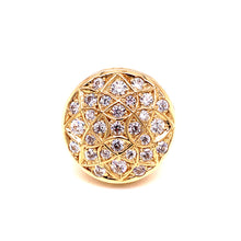 14K Yellow Gold Fashion Style Men's Ring with Cubic Zirconias Size 11