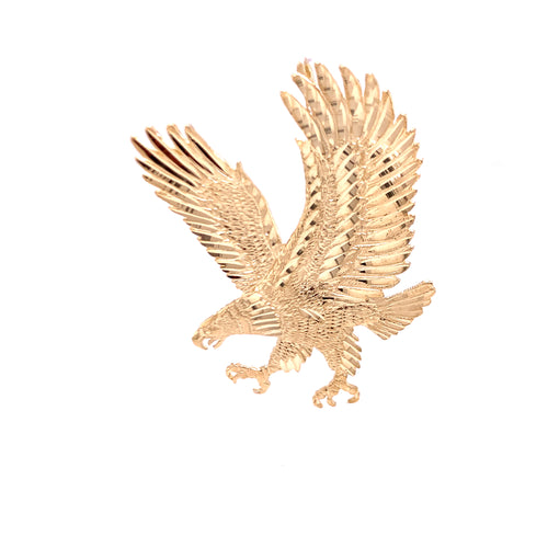 14K Yellow Gold Solid Pendant with Eagle 10.10 Grams