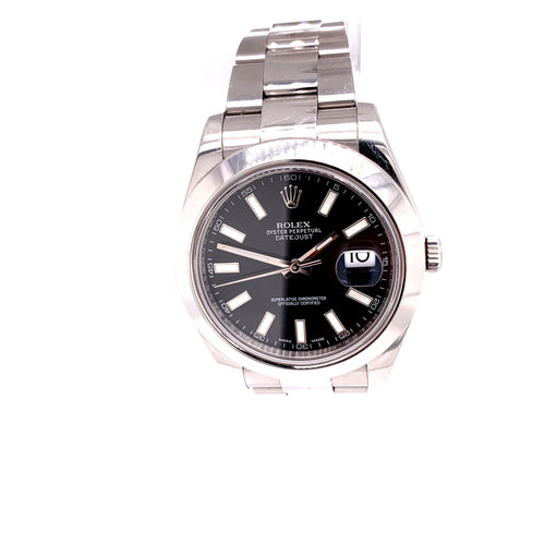 Rolex Date Just II 41mm Stainless Steel with Box and Card Ref 116300