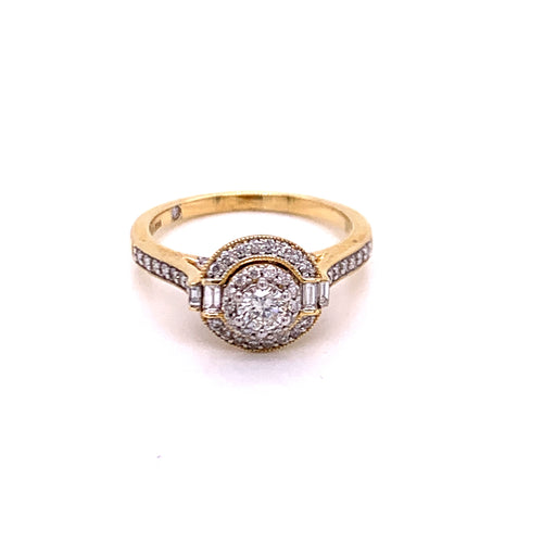 0.62Ctw 14K Two Tone Engagement Ring Size 7