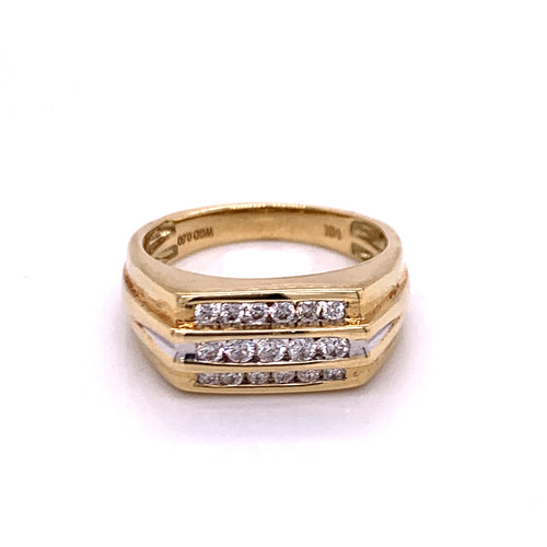 0.50Ctw 14K Two Tone Wedding Ring Size 110