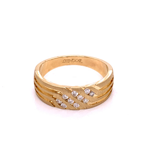 0.25Ctw 14K Yellow Gold Wedding Ring Size 10