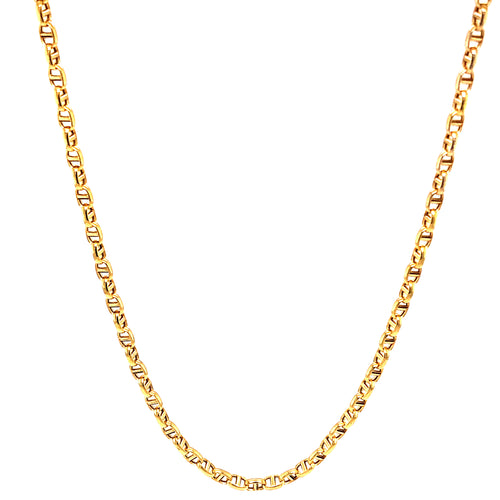 14K Yellow Gold Link Chain Gucci 2.5Mm 20 ​​Inch 3.58 Gram