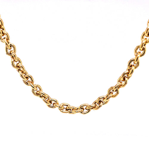 14K Yellow Gold Semi Solid Chain 4Mm 18 Inches 8.86 Grams